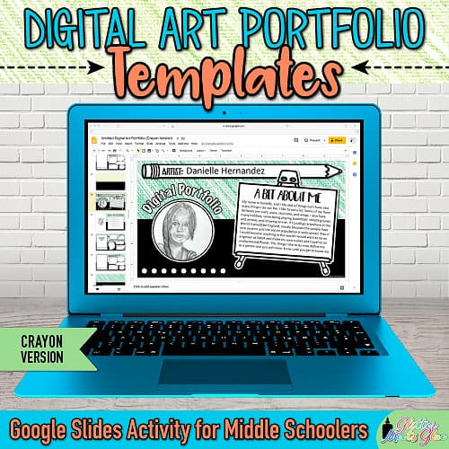 art portfolio templates for middle school kids