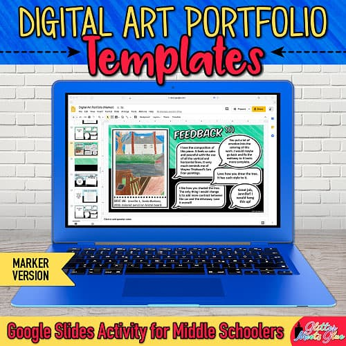 art portfolio template for middle school kids