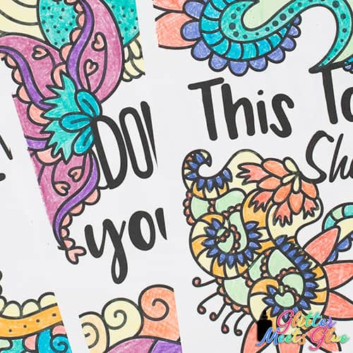 mental health coloring pages close up