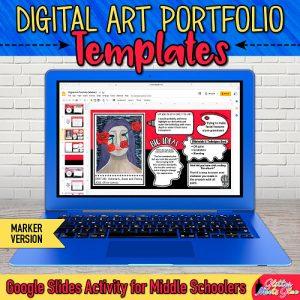 digital art portfolio templates on Google Drive for kids