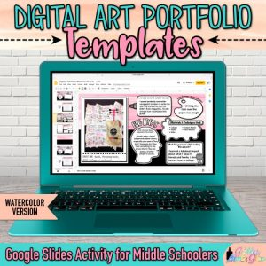digital art portfolio templates on google rrive for kids