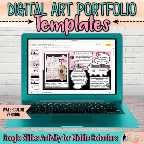 digital art portfolio templates on google rrive for kids
