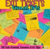 elements of art exit tickets for kids