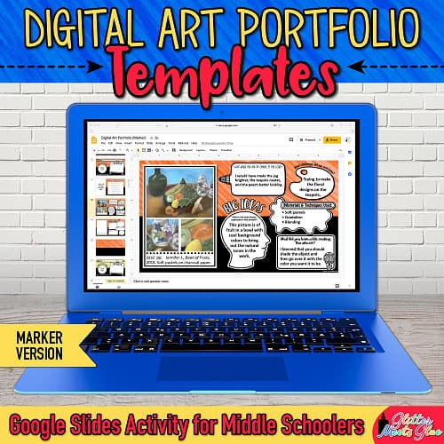 google drive art lesson to create an online art portfolio for middle school