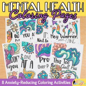 8 mental health coloring pages for kids