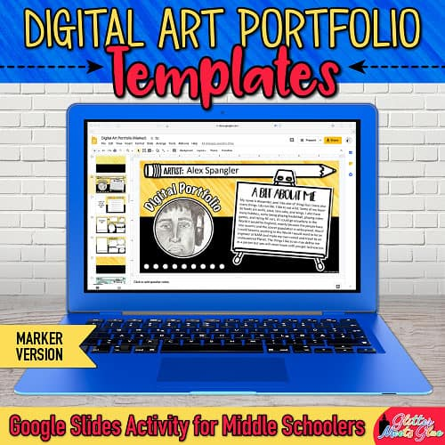 visual arts portfolio template for middle school art lessons