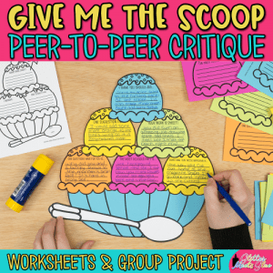 art critique worksheet and group activity for elementary art students