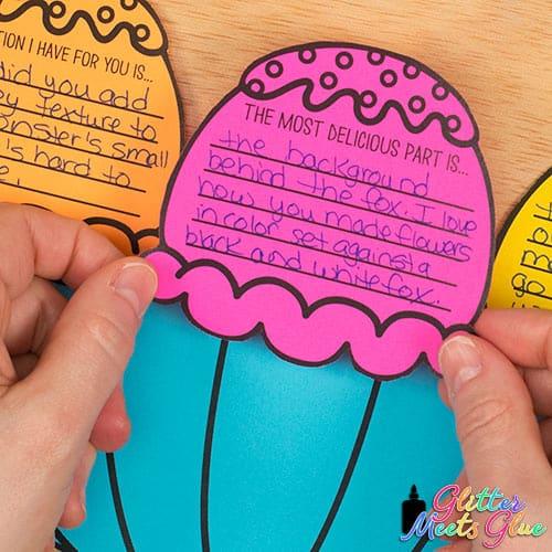 art peer critique activity for kids