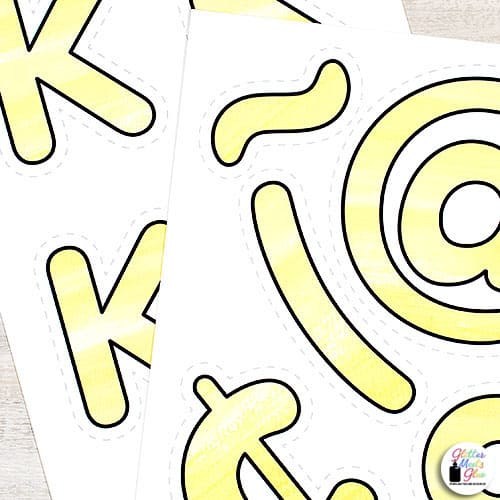 bulletin board letters printable for classroom decor