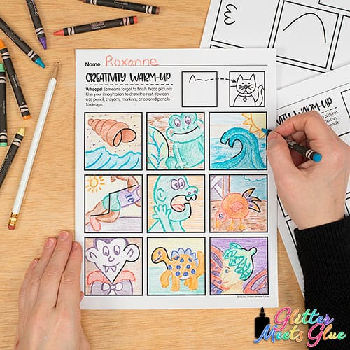 creativity worksheets for kids