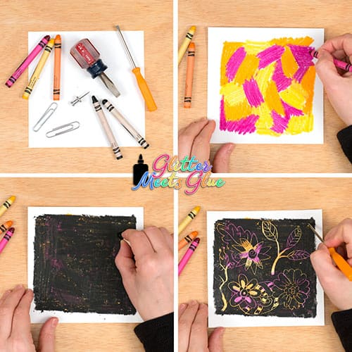 homemade scratch art for kids