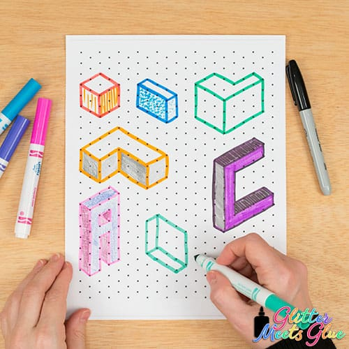 isometric drawing art projects for kids