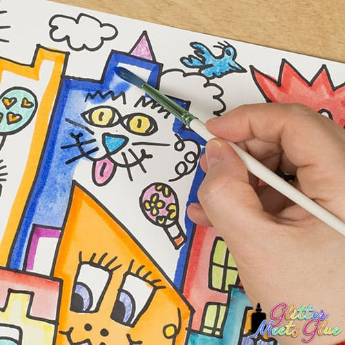 marker painting for kids