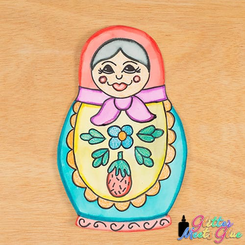 matryoshka doll art lesson for kids