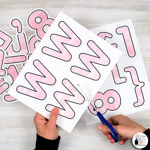 pink watercolor bulletin board letters for teachers
