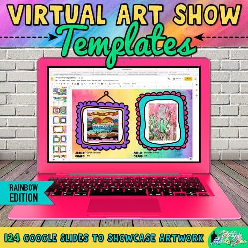 digital school art exhibit for teachers