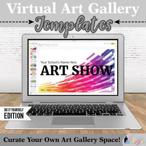 virtual art gallery art lesson for kids