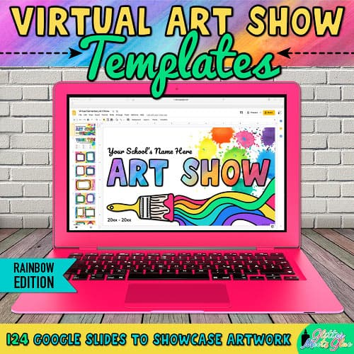 virtual art show templates for teachers
