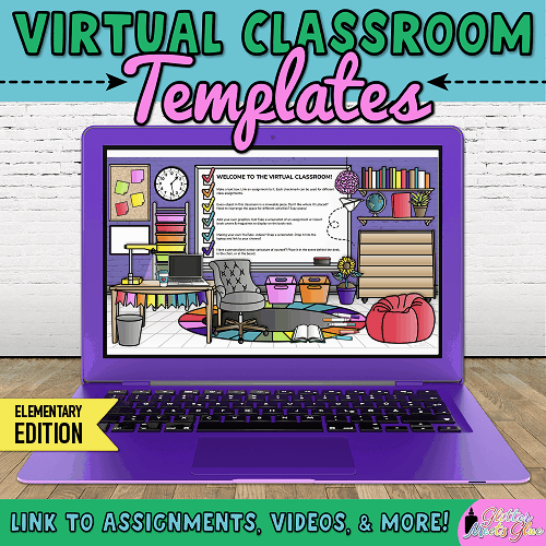bitmoji virtual classroom in google slides for teachers