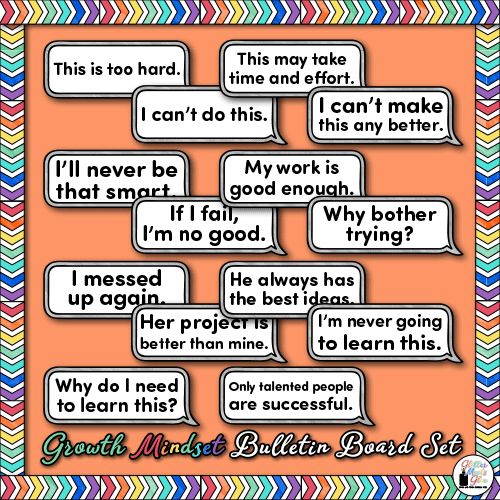 growth mindset poster quotes for kids