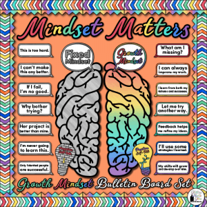 mindset matters bulletin board for teachers