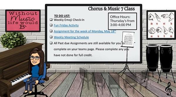 music class bitmoji