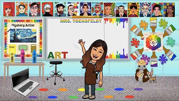 bitmoji rainbow classroom