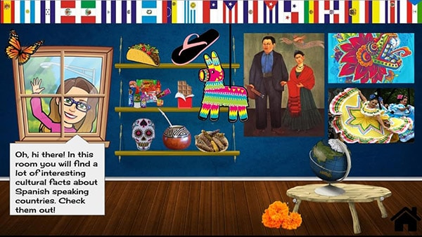spanish bitmoji virtual classroom idea
