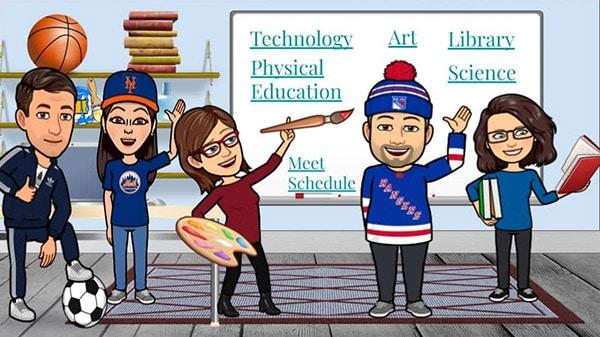 specials teachers virtual classroom ideas