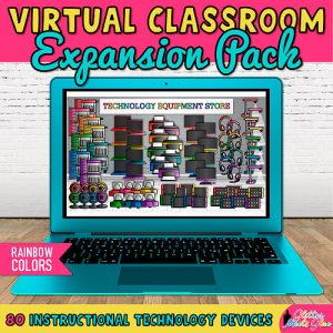 technology equipment templates for virtual classroom bitmoji