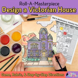 victorian house drawing game for kids