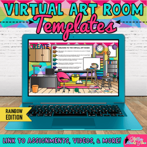 virtual art room for Google Slides