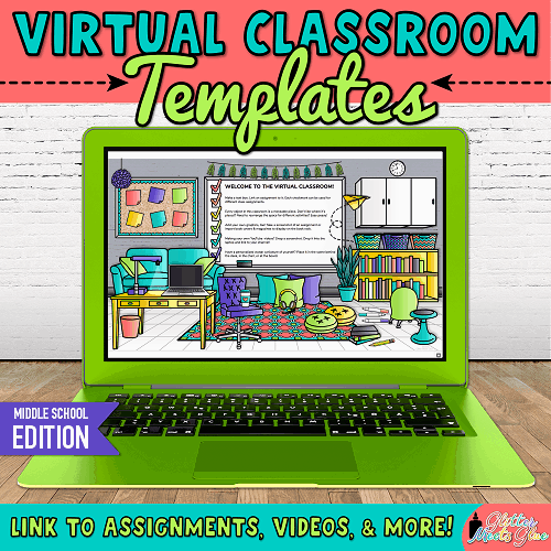 virtual classroom background for bitmoji