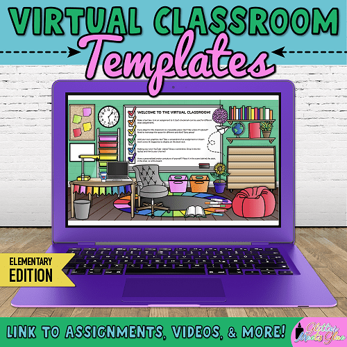 virtual classroom bitmoji template for teachers