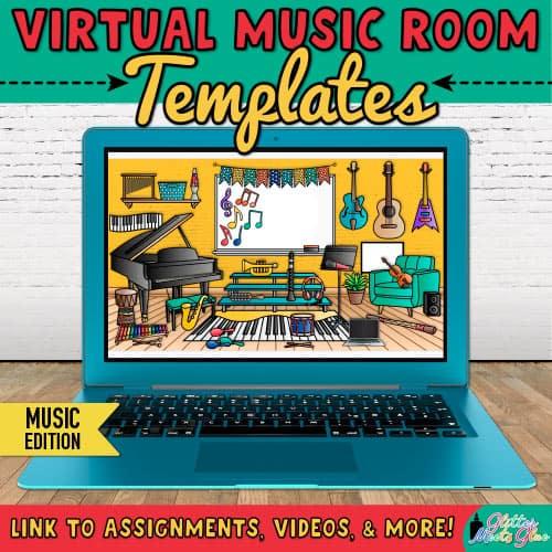 virtual classroom bitmoji music