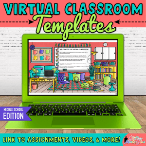 virtual classroom template for middle school teachers