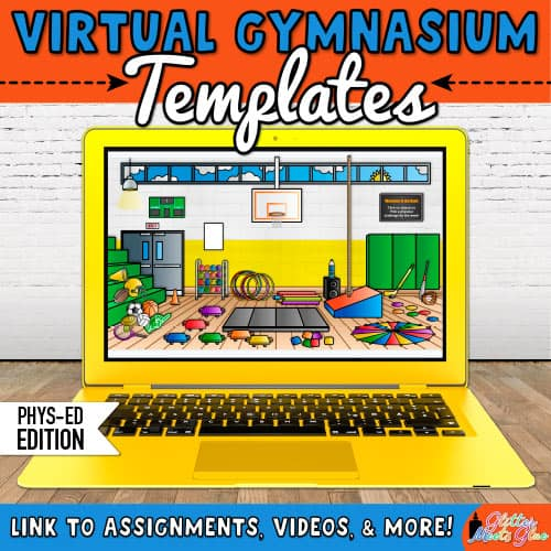 virtual gym bitmoji classroom for phys ed teachers