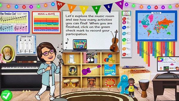 virtual music room for teachers