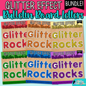 glitter bulletin board letters bundle