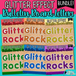 glitter bulletin board letters bundle