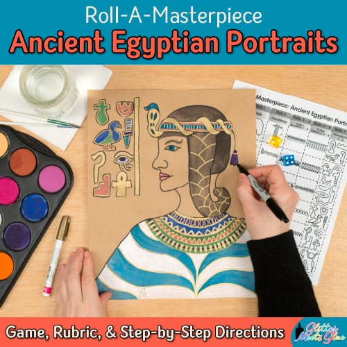 ancient egypt art lesson for middle school kids