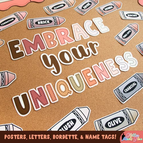 embrace your uniqueness back to school bulletin board ideas