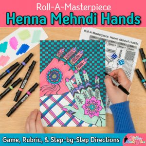 henna hands art game for kids