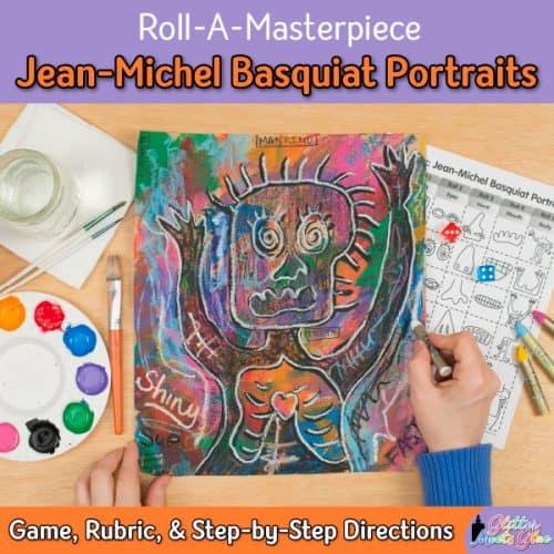 jean-michel basquiat art game for middle school kids