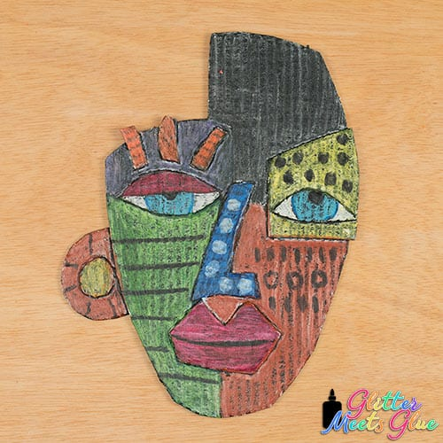 kimmy cantrell art lesson mask project for kids