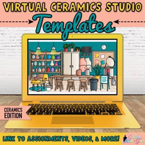 virtual ceramics studio templates in google slides for art lessons
