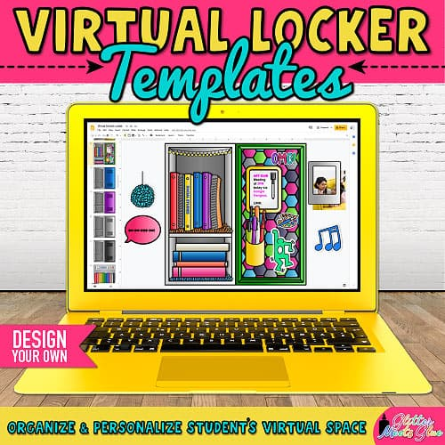 virtual locker project for back to school ideas