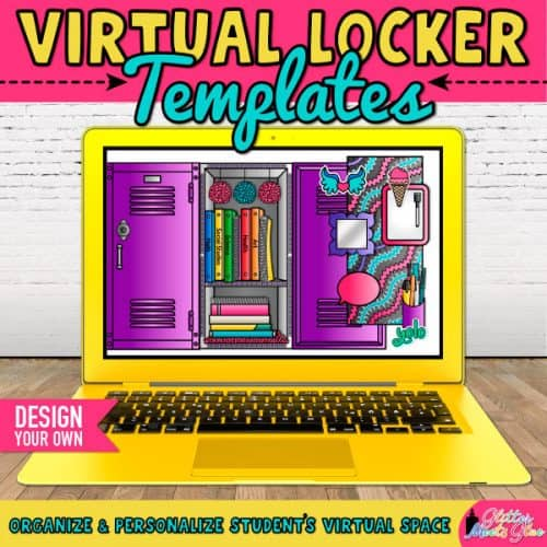 Virtual School Locker Templates