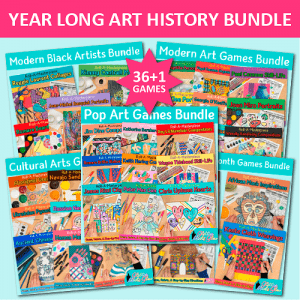 year long art history games bundle for teachers