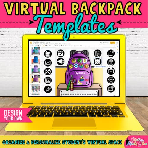 digital school backpack project for classroom organization